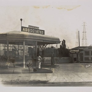 R. F. Heyward's Associated Gasoline station at the intersection of Third and ...
