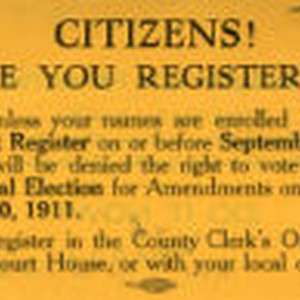 Citizens! are you registered?