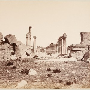 23 General view of the Temple of the Sun at Palmyra, looking ...
