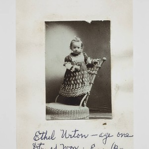 Portrait of Ethel May Urton as a child, 1904