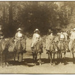 [Group picture of mounted riders]