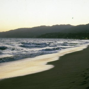 Sunset, Santa Monica beach