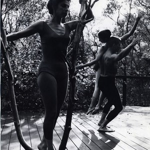 "Anna Halprin, A.A. Leath, and Simone Forti in Halprin's ""The Branch"""