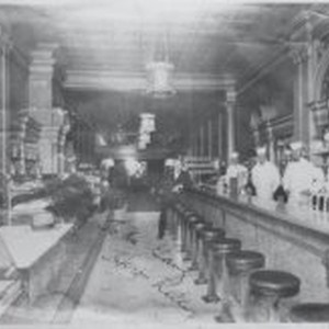 Interior of O'Brien candy store in 1926