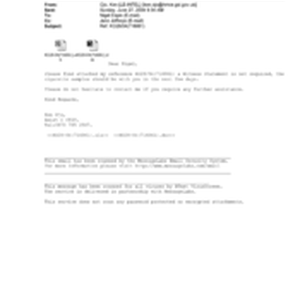[Email from Ken Ojo to Nigel Espin regarding the attached reference KO28/04 ...