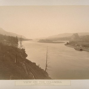 View of the Columbia, Castle Rock and Lower Landing