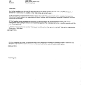 [Email from Mounif Fawaz to Mark Rolfe regarding Summarizing the position on ...