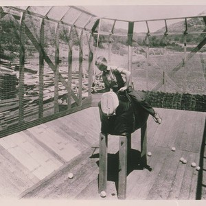 Will Roger's daughter, Mary, in the polo practice cage at Will Rogers ...