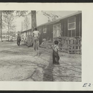 A street scene in block 7 on a November afternoon. Photographer: Parker, ...
