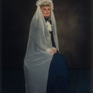Mary Lu V. Moore in reproduction wedding dress