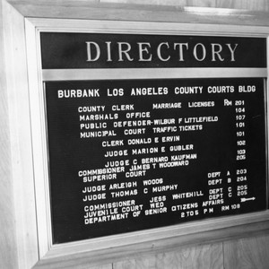 Directory for Burbank County Court Building
