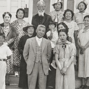 Japanese Methodist Church, A Street, Oxnard : 1937. Clockwise from far left ...