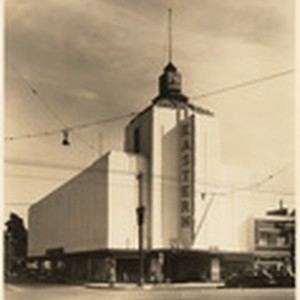 [Exterior full front view Eastern Theatre, Huntington Park, Los Angeles]