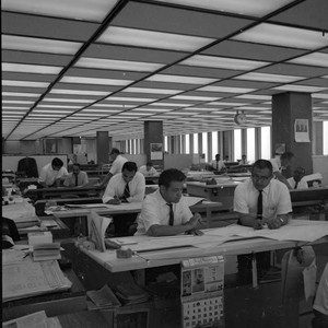 One of the drafting rooms in the General Office Building