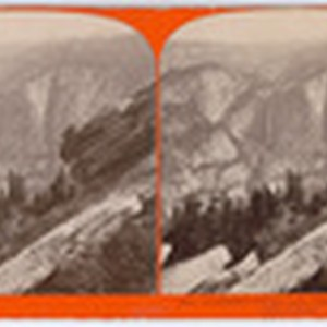 Yo-Semite Falls, 2,634 feet high, from the Sentinel Dome, # 1610