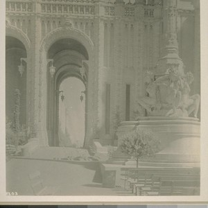 "H203. [Court of Abundance (Louis Christian Mullgardt, architect). ""Water Sprites,"" at base ..."