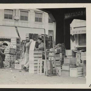 Los Angeles, Calif.--Vegetable concession in wholesale produce market, operated almost exclusively by ...