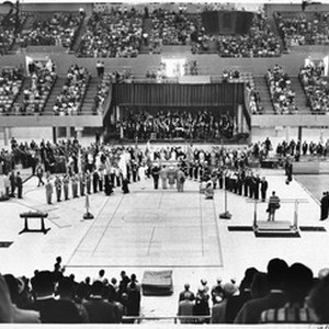Presentation of the flag, Los Angeles Memorial Sports Arena, 1959