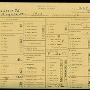 WPA household census for 1910 S LOS ANGELES, Los Angeles