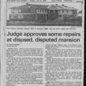 Judge approves some repairs at disused, disputed mansion