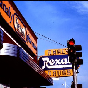 Analy Pharmacy Rexall Drug Store sign at approximately 186 North Main Street, ...