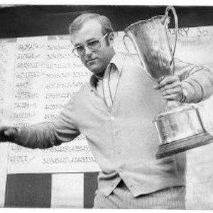 Pro golfer Vic Loustalot of Sacramento clutches the trophy for winning the ...
