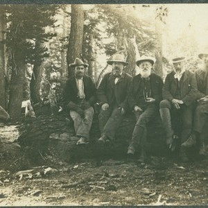 John Muir (right) and unidentified men