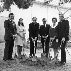 Von der Ahe Library expansion ground breaking ceremony with Donald P. Merrifield, ...