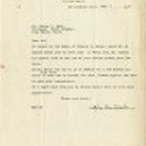 Letter from Roy N. Sato, Counsellor to Mr. George H. Hand, Chief ...