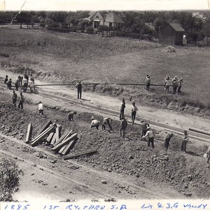 Construction of First Railway through South Pasadena - Los Angeles and San ...