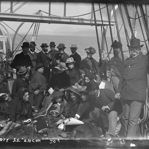"""Cruise party, S.S. Ancon,"" at Safety Cove. [negative]"