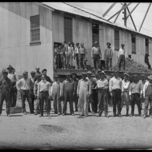 Group portrait of employees at plant for the California Packing Corporation