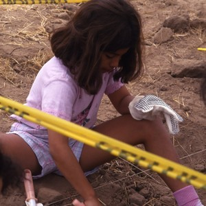 Kids on archeological digs