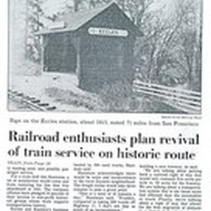 Railroad Enthusiasts Plan Revival of Train Service on Historic Route