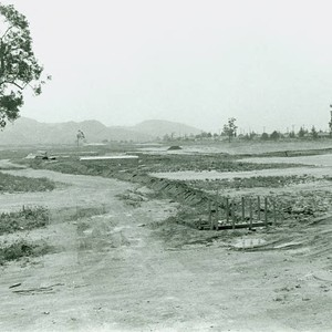View of construction at El Cariso Golf Course