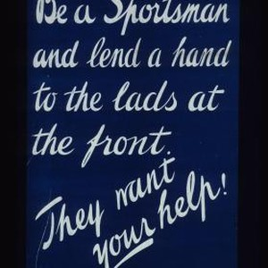 Be a sportsman and lend a hand to the lads at the ...