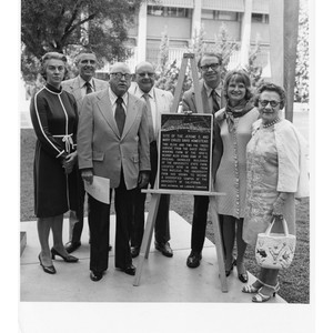 Dedication ceremony of the site of the Jerome C. Davis and Mary ...
