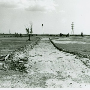 View of construction of Victoria Golf Course