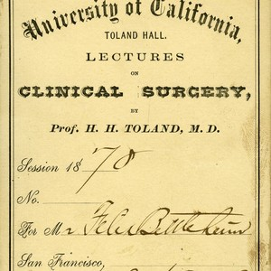 Clinical Surgery lecture admission ticket