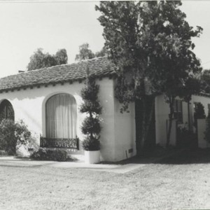 Van Hunnick Dairy home rear view, 9121 Valley View Street (built ca. ...