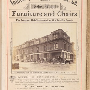Indianapolis Chair Manuf. Co., manufacturers of solid walnut furniture and chairs, the ...