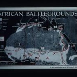 African battlegrounds. Enlargement of original map drawn for TIME weekly newsmagazine. For ...