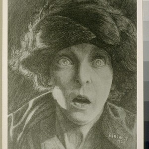 Zasu Pitts as Trina. Drawing by Jean Hersholt. [Photographic reproduction. Original drawing ...