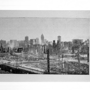 View from Hopkins Institute of Art after the disaster of San Francisco, ...