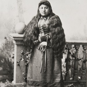 The woman in this photograph was believed to be Sinforosa Fustero (1834-1912), ...