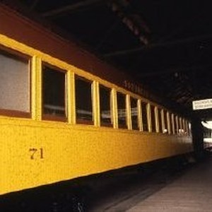 Interior view of the California State Railroad Museum in Old Sacramento