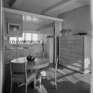Pace Setter House of 1951: Interiors and exteriors, kitchen, laundry room, storage. ...