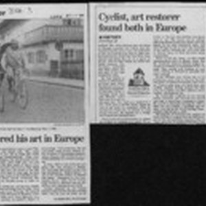 Cyclist mastered his art in Europe