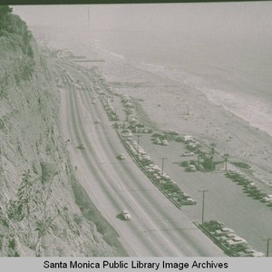 View of Pacific Coast Highway looking south from Pacific Palisades