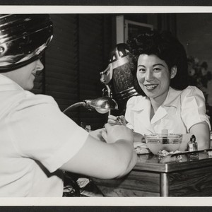Miss Miye Tachihara, a beautician, has relocated from the Gila River Relocation ...